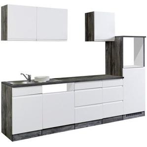 Mid.you Küchenleerblock , Weiß, Eiche , Holzwerkstoff , 5 Schubladen , 280 cm , individuell planbar, links aufbaubar, rechts aufbaubar , Küchen, Küchenmöbel, Küchenzeilen ohne Geräte
