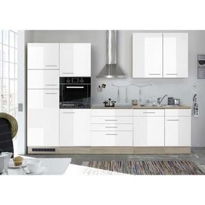 Mid.you Küchenleerblock , Weiß, Sonoma Eiche , 3 Schubladen , 310 cm , Küchen, Küchenmöbel, Küchenzeilen ohne Geräte