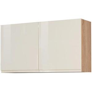 Mid.you Küchenoberschrank , Creme, Sonoma Eiche , Holzwerkstoff , 100x57x34 cm , hängend , Küchen, Küchenmöbel, Küchenzeilen & Küchenblöcke