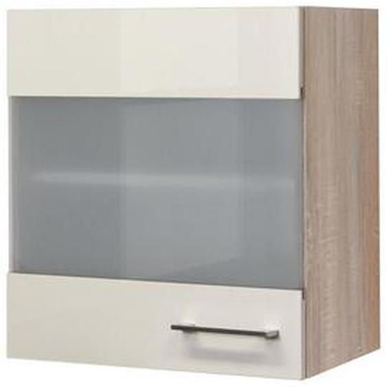 Mid.you Küchenoberschrank , Beige, Weiß , Holzwerkstoff , 1 Fächer , 50x54.8x32 cm
