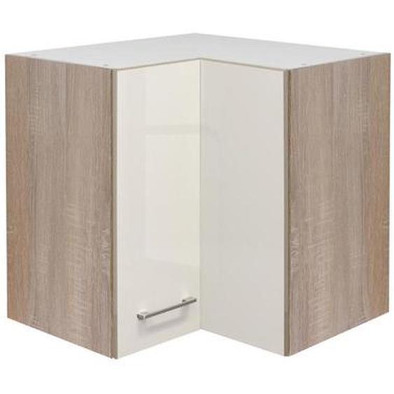 Mid.you Küchenoberschrank , Beige, Weiß , Holzwerkstoff , 1 Fächer , 60x54.8x32 cm