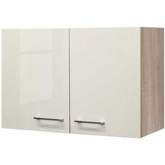 Mid.you Küchenoberschrank , Beige, Weiß , Holzwerkstoff , 1 Fächer , 80x54.8x32 cm
