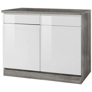 Mid.you Küchenunterschrank , Weiß , Holzwerkstoff , 2 Schubladen , 100x85x60 cm , Küchen, Küchenmöbel, Küchenzeilen & Küchenblöcke