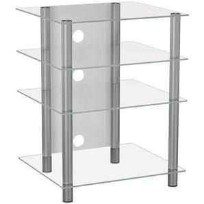 : Tisch, Klar, Silber, B/H/T 54 70 47