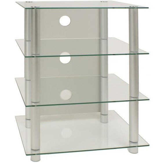 Mid.you Phonotisch Metall, Glas Grau , 54x70x45 cm