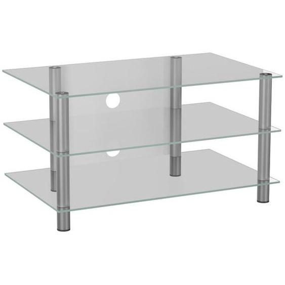 Mid.you Phonotisch Metall, Glas Weiß, Grau , 95x45x42 cm