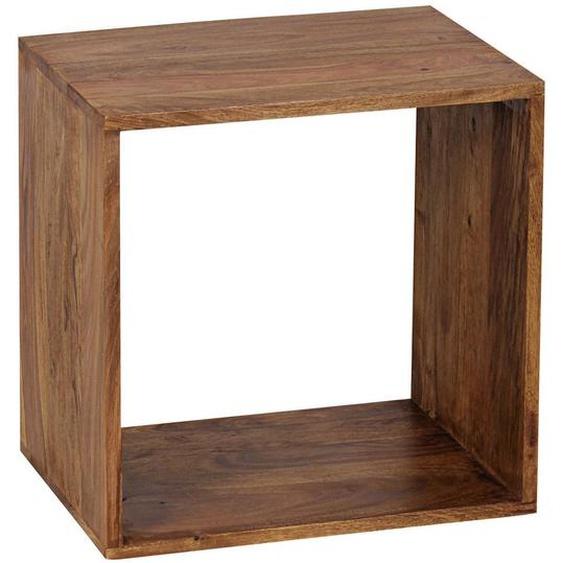 Mid.you Regal Sheesham massiv Braun , Holz , 43.5x43.5x33 cm