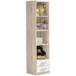 Carryhome: Regal, Holzwerkstoff, Weiß, Eiche, B/H/T 47 197 38
