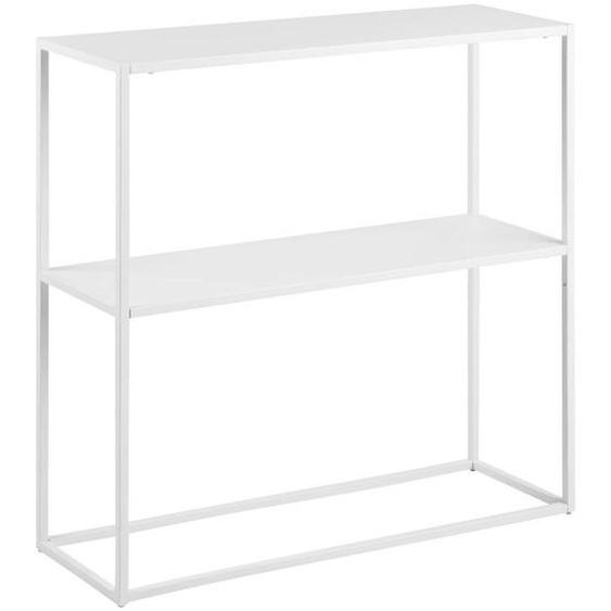 Mid.you Regal Weiß , Metall , 79.5x80.5x26 cm