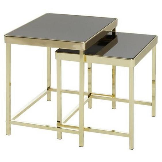 Mid.you Satztisch rechteckig Gold , Metall , 36x46 cm
