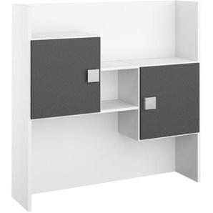 Mid.you Schreibtischaufsatz , Grau, Weiß , 120x122x33 cm , Blauer Engel, BQ - Bündnis für Qualität, Made in Germany , Arbeitszimmer, Schreibtische, Bürotische