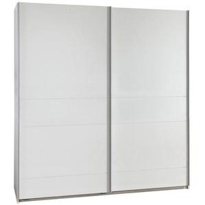 Carryhome: Schwebetürenschrank, Holzwerkstoff, Weiß, B/H/T 135 198 64