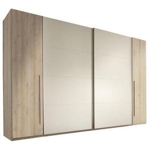 Carryhome: Schwebetürenschrank, Holzwerkstoff, Buche, Weiß, B/H/T 315 225 61