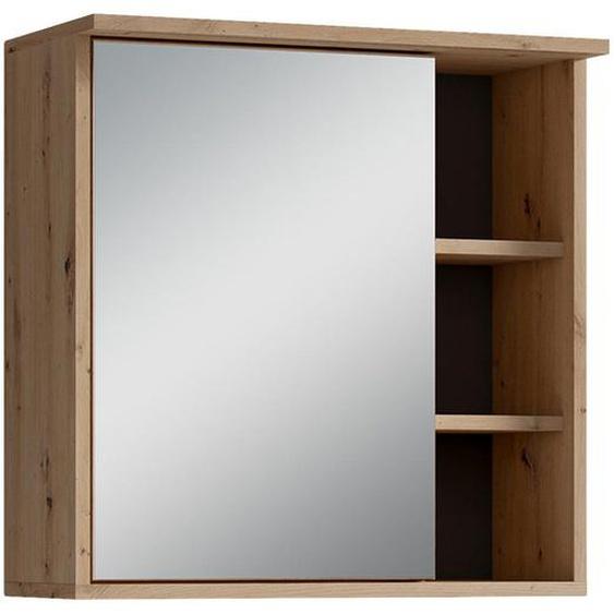 Mid.you Spiegelschrank Braun , Holzwerkstoff , Nachbildung , 4 Fächer , 60x61x28 cm