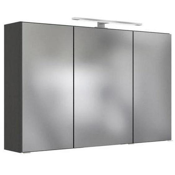 Mid.you Spiegelschrank Grau , Glas , Nachbildung , 120x64x20 cm