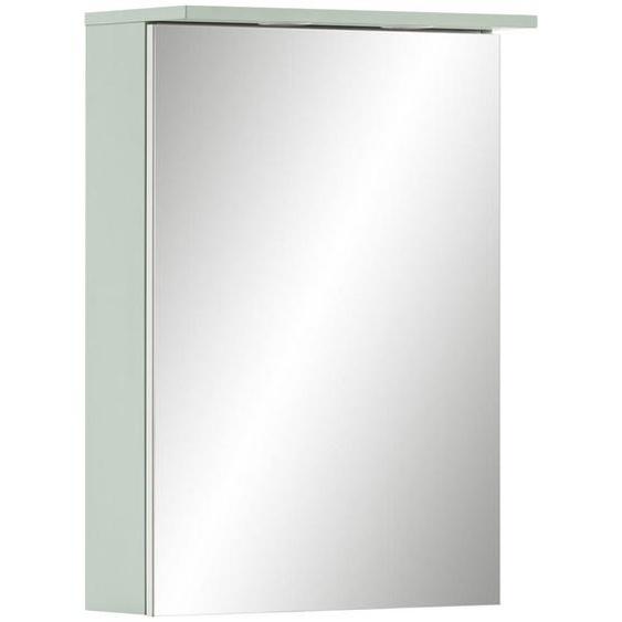 Mid.you Spiegelschrank Grün , Glas , 50.4x72.3x16.0 cm