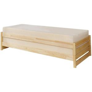 Mid.you Stapelbett 926825 Nadine , Holz , Kiefer , massiv , Höhe ca. 18 cm , 90x200 cm , FSC , für Rollrost geeignet , Schlafzimmer, Betten, Gästebetten
