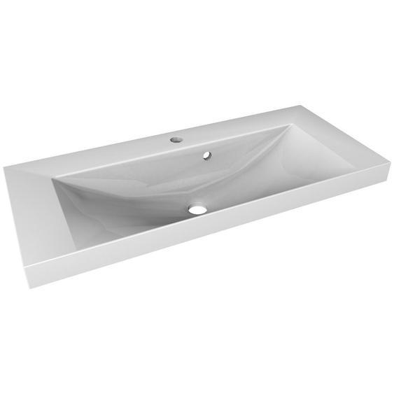 Mid.you Waschbecken , Weiß , Keramik , 80x14x35 cm , Badezimmer, Waschbecken & Armaturen, Waschbecken