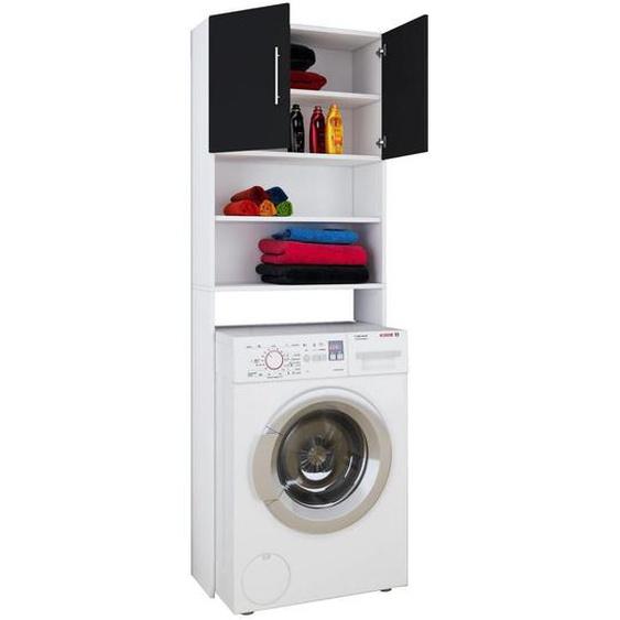 Mid.you Waschmaschinenverbau Weiß , Kunststoff , 64x190x25 cm