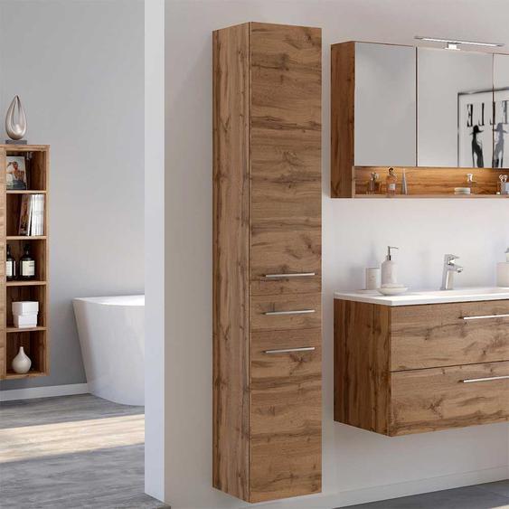 Midischrank für Badezimmer Wildeichefarben