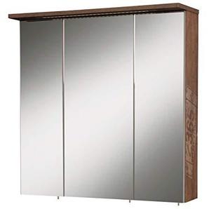 Milan Spiegelschrank mit drei Spiegeltüren, Melaminharzbeschichtete Spanplatte/Metall/Glas, Panama Eiche, 23.7 x 70.5 x 72.5 cm