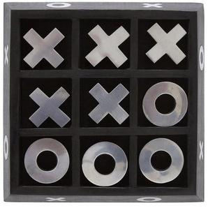 Millington three Posts Dekorativer Tic-Tac-Toe-Spielkasten im Schachbrettmuster