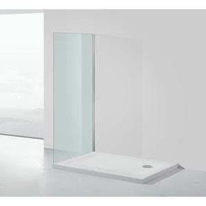 Mineralguss-Duschtasse 80 x 90 x 5 cm - Weiß