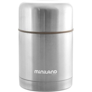 Miniland Thermobehälter Silky Thermo Food 600ml silber