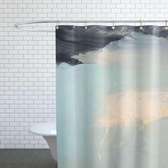 Minimal Brushstrokes 2 - Duschvorhang