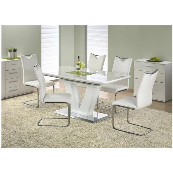 Mistral Esstisch Weiß 160-220x90x77 cm