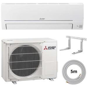 Mitsubishi Split Klimaanlage R32 Basic Komplett-Set Wandgerät 3,4 kW EEK: A++ / A+