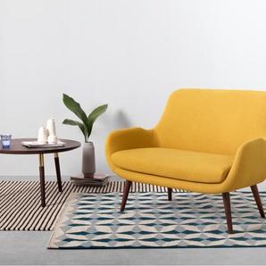 Moby 2-Sitzer Sofa, Dottergelb