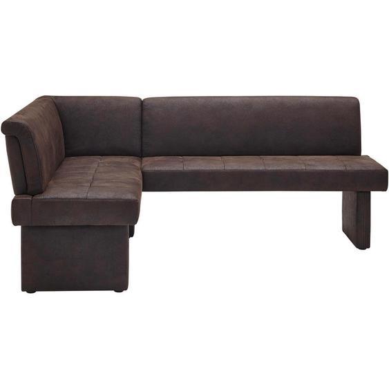 Moderano Eckbank Mikrofaser braun , Textil , 4-Sitzer