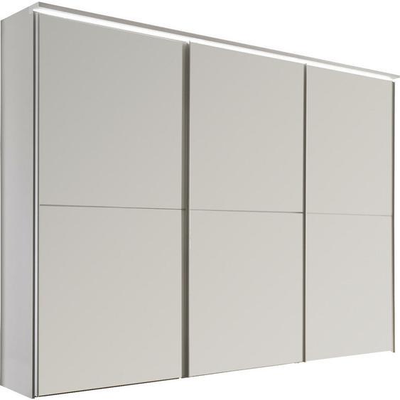Moderano Schwebetürenschrank 3-türig Grau, Beige , Schlamm, Sand , Holzwerkstoff , 6 Fächer , 298x240x68 cm