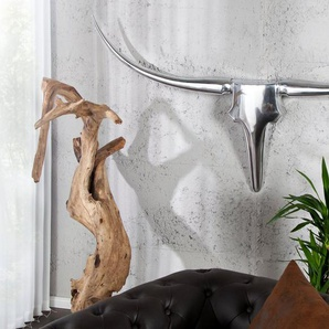 Design Accessoire BULL 120cm XL Wanddekoration Metall-Aluminium Legierung Geweih