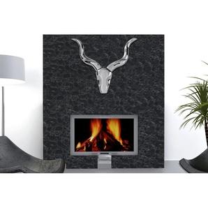 Design Accessoire Wanddekoration STYLE ROCKS Metall-Aluminium Legierung Geweih 50cm