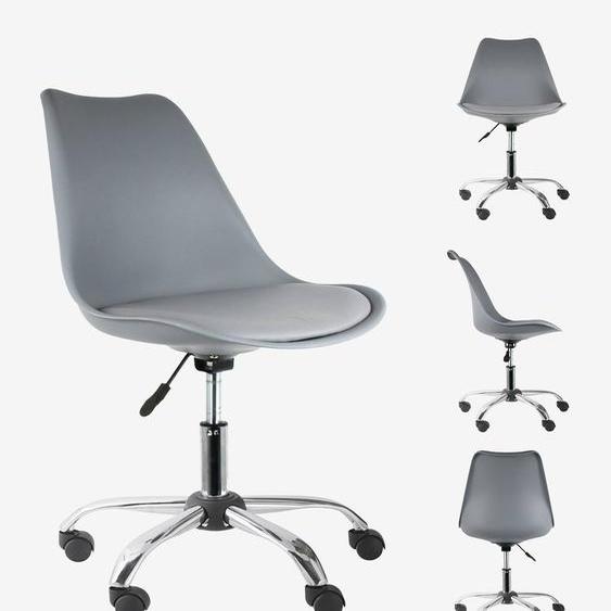 Moderner Schreibtischstuhl grau