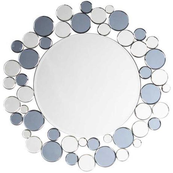 Moderner Wandspiegel in Grau und Silberfarben 80 cm breit