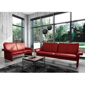 Modoform Sofa Capri 2-Sitzer Rot Echtleder 164x90x88 cm (BxHxT) Modern