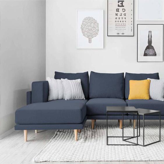 Modulares Scandi Style Sofa CLOOODS, dunkelblau, 247cm breit