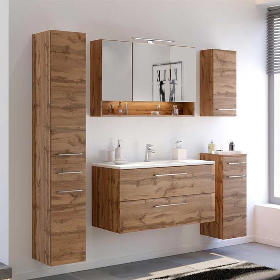 Möbel Kombination in Wildeichefarben Badezimmer (5-teilig)