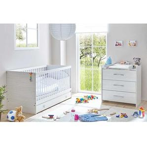 Möbel Set für Babyzimmer Weiß und Hellgrau (zweiteilig)
