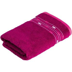 Handtuch »Magic Uni«, Möve for frottana, mit Bordüre aus kleinen Rechtecken