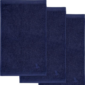 Möve Gästehandtuch Superwuschel, (3 St.), in kräftigen Farben B/L: 30 cm x 50 St.) blau Gästehandtücher Handtücher Badetücher