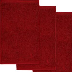 Möve Gästehandtuch Superwuschel, (3 St.), in kräftigen Farben B/L: 30 cm x 50 St.) rot Gästehandtücher Handtücher Badetücher