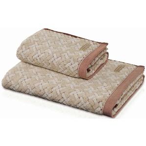 Handtuch »Spa Quadrate«, Möve, in natürlichen Farben
