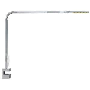 Moll LED-Schreibtischlampe, silber, Alu, Eisen, Stahl & Metall