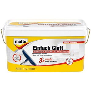 MOLTO Fertigspachtel »Einfach Glatt«, weiß, 7 kg