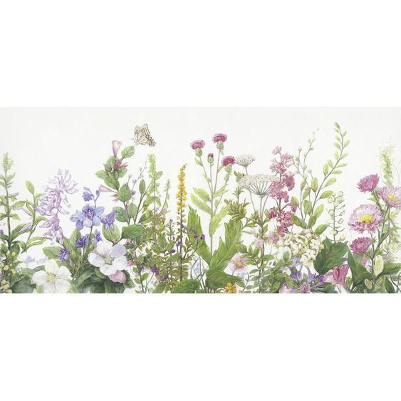 Monee Ölgemälde Blumen , Mehrfarbig , Textil , 150x70 cm