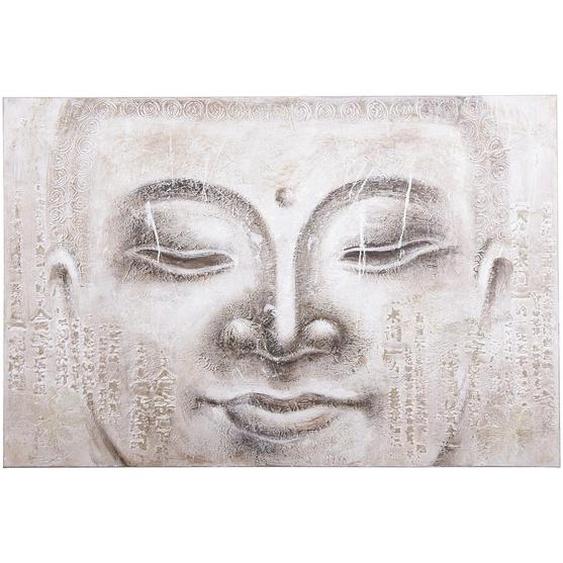 Monee Ölgemälde Buddha , Mehrfarbig , Holz, Textil , Pinie , massiv , 150x100 cm